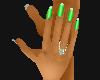 Nails Toxic Green
