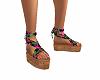 Tropical Tie Up Sandals