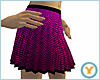 Pink Fishnet Pleated