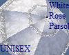 White Rose Parasol