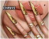 E♔ Gold Chrome Nails