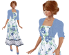 TF* Blue Roses Dress