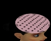 pink,black dots pinhat