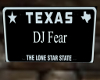 DJ Fear License Plate