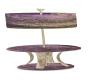 purp & tan table & lamp