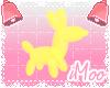 Neon Animal Balloon M  Y