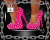 Pink Laytex Spiked Heels