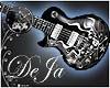 rD guitar skull flames
