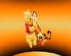 Tigger & Winnie The Pooh Cutout + Gradient Background