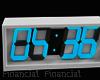 Digital White Clock