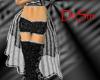 Silver Burlesque Skirt