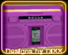 Purple IPOD Boombox