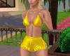 yellow sports, bikini