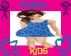!Kids Blue Flower Dress