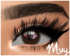 m. Subtle brown eyes