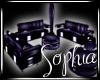 Purple Animal Seat Area