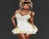 dress diamonds white
