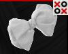 White Bow Hair Clip - L