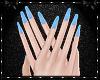 Sweetheart Blue Nails
