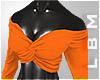 `Peacock Orange Top