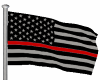 Thin Red Line Flag/Pole