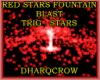 RED STARS FOUNTAIN BLAST
