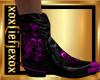[L] Purple SKULL Boots M