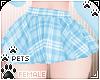 [Pets] Plaid skirt | Sky