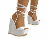 White Platform Wedges