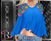 Maria blue blouse