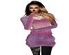 purple pink sweater
