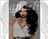 Sombrero/cabello negro