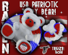 WINGED USA TEDDY BEAR!