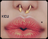 ʞ- Gold Septum Ring