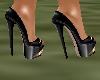 !Em Black Gold Heels