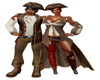 Couples Pirate Hat M