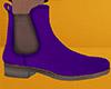 Purple Chelsea Boots 2 M