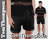 ♕ Franco Black Shorts