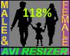 118% Tall