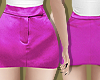 Fuschia Silk Mini Skirt