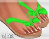 (BDK)Flat sandals green