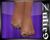Bare Feet / Black polish