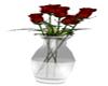 ~S~ Red Roses In Vase
