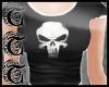 TTT Skull T-Shirt ~Blk/w