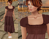 TF* Brown Modest Dress
