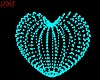 Teal Deco Heart