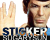 /su/ SPOCK STICKER