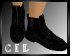 *C* Black Zippered boots