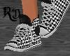 Plaid Converse B/W