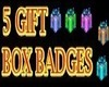 5 GIFT BOX BADGES